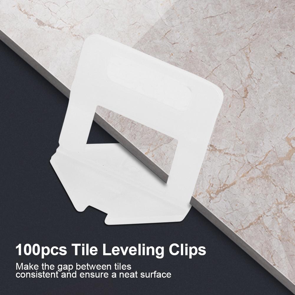100pcs Wedges Floor Wall Tile Leveler Spacers Flat
