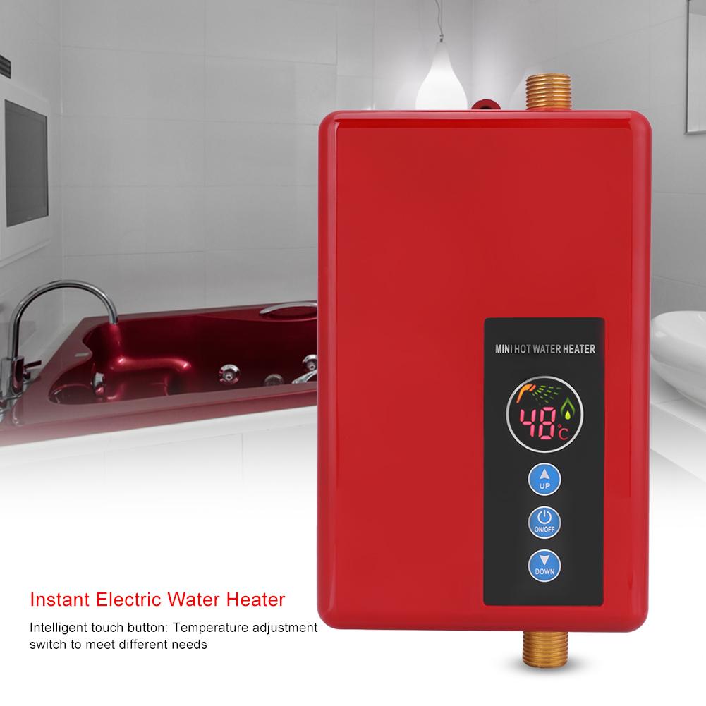 3kw 5 5kw scaldacqua elettrico istantaneo scaldabagno riscaldatore cucina bagno ebay - Scaldabagno istantaneo elettrico ...