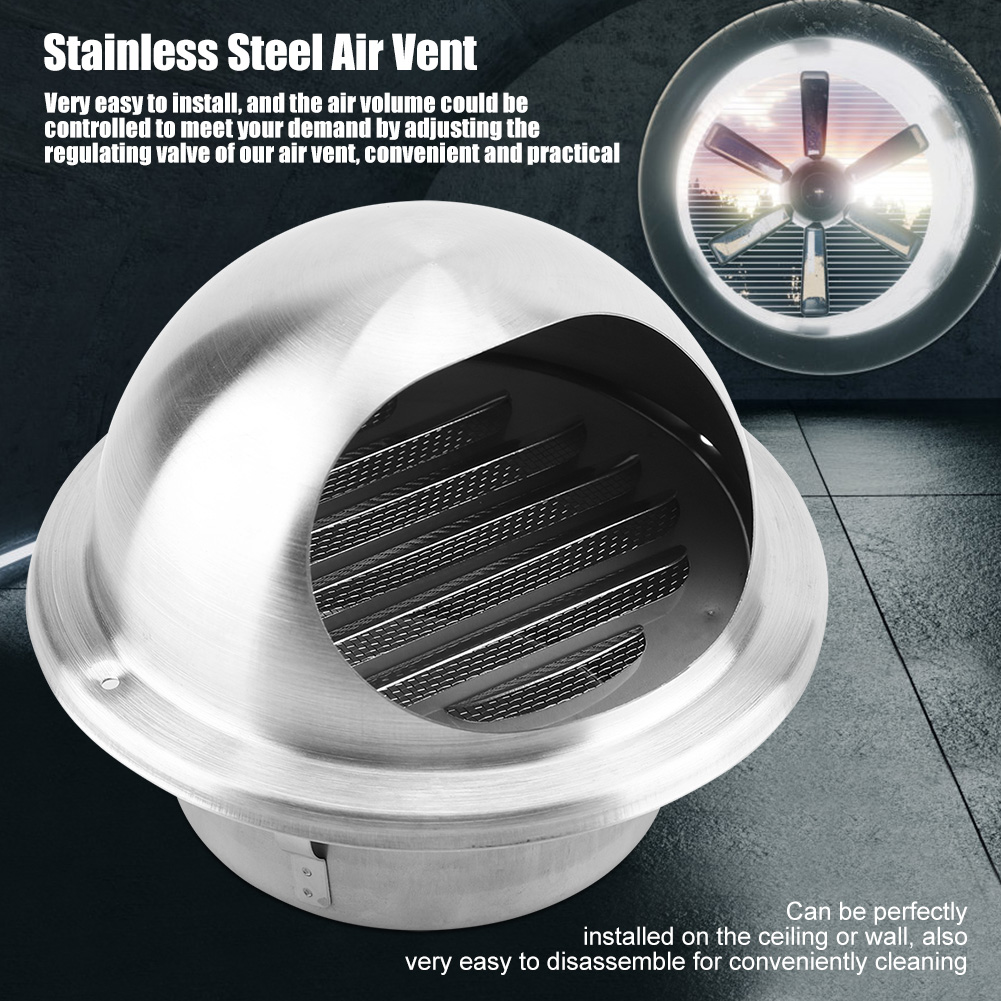 Stainless-Steel-Wall-Air-Vent-Ducting-Ventilation-Exhaust-Grille-Cover-Outlet-HG thumbnail 17
