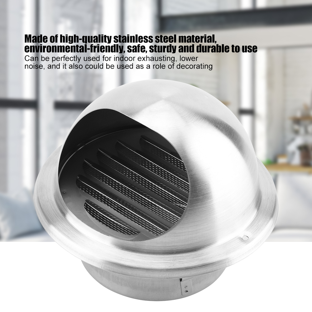 Stainless-Steel-Wall-Air-Vent-Ducting-Ventilation-Exhaust-Grille-Cover-Outlet-HG thumbnail 18