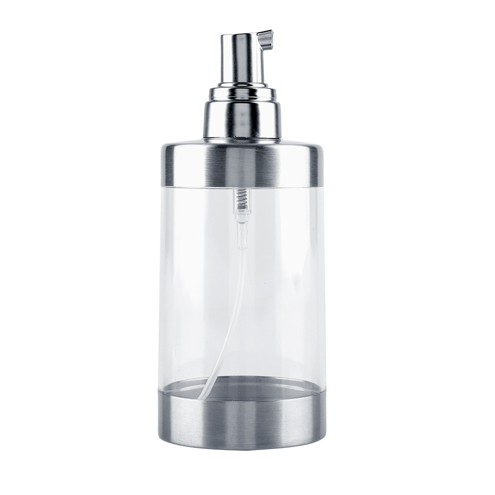 Stainless steel pump soap lotion dispenser liquid shampoo - Bathroom soap and lotion dispenser set ...