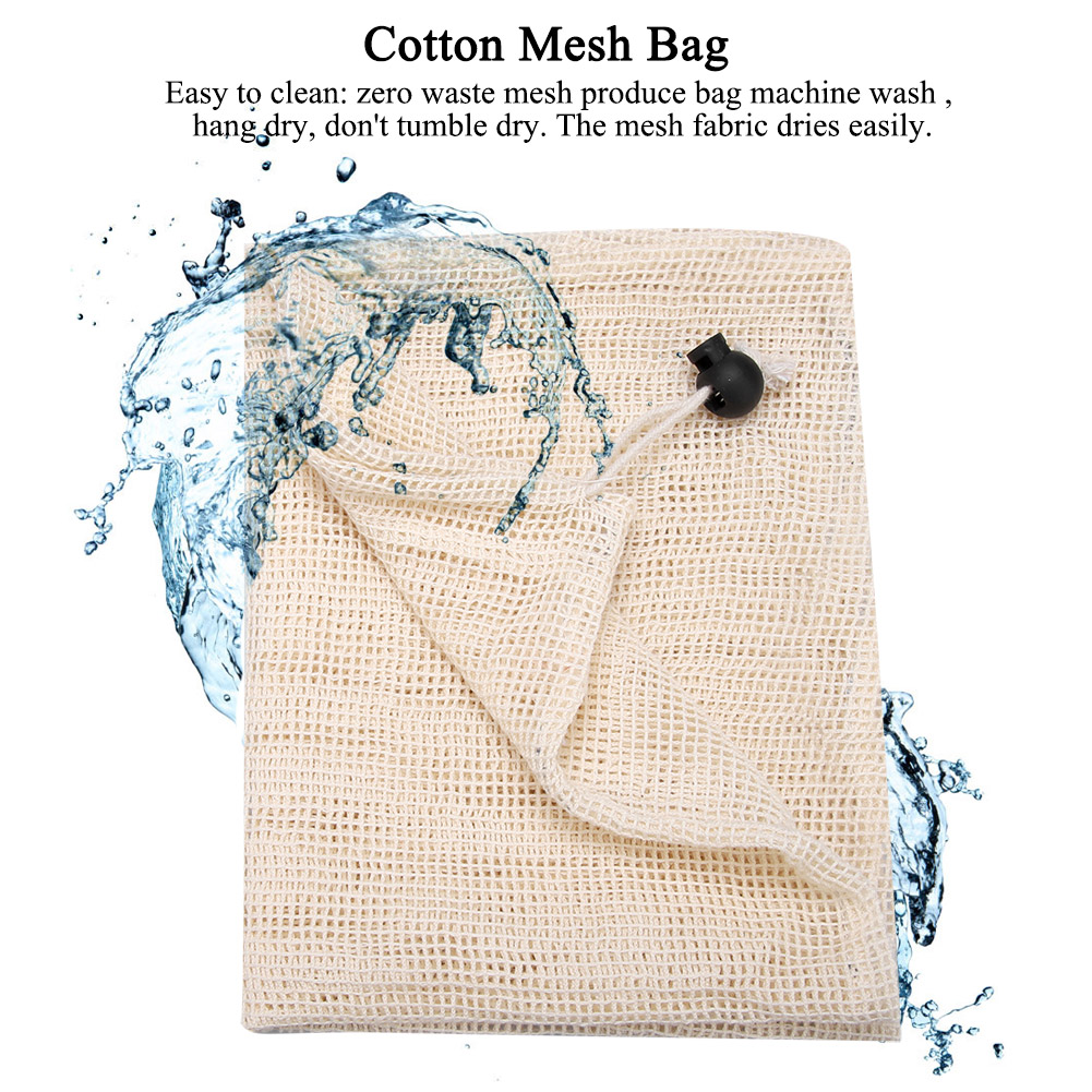 ECO-Reusable-Cotton-Mesh-Produce-Bags-Grocery-Fruit-Storage-Shopping-String-Bags