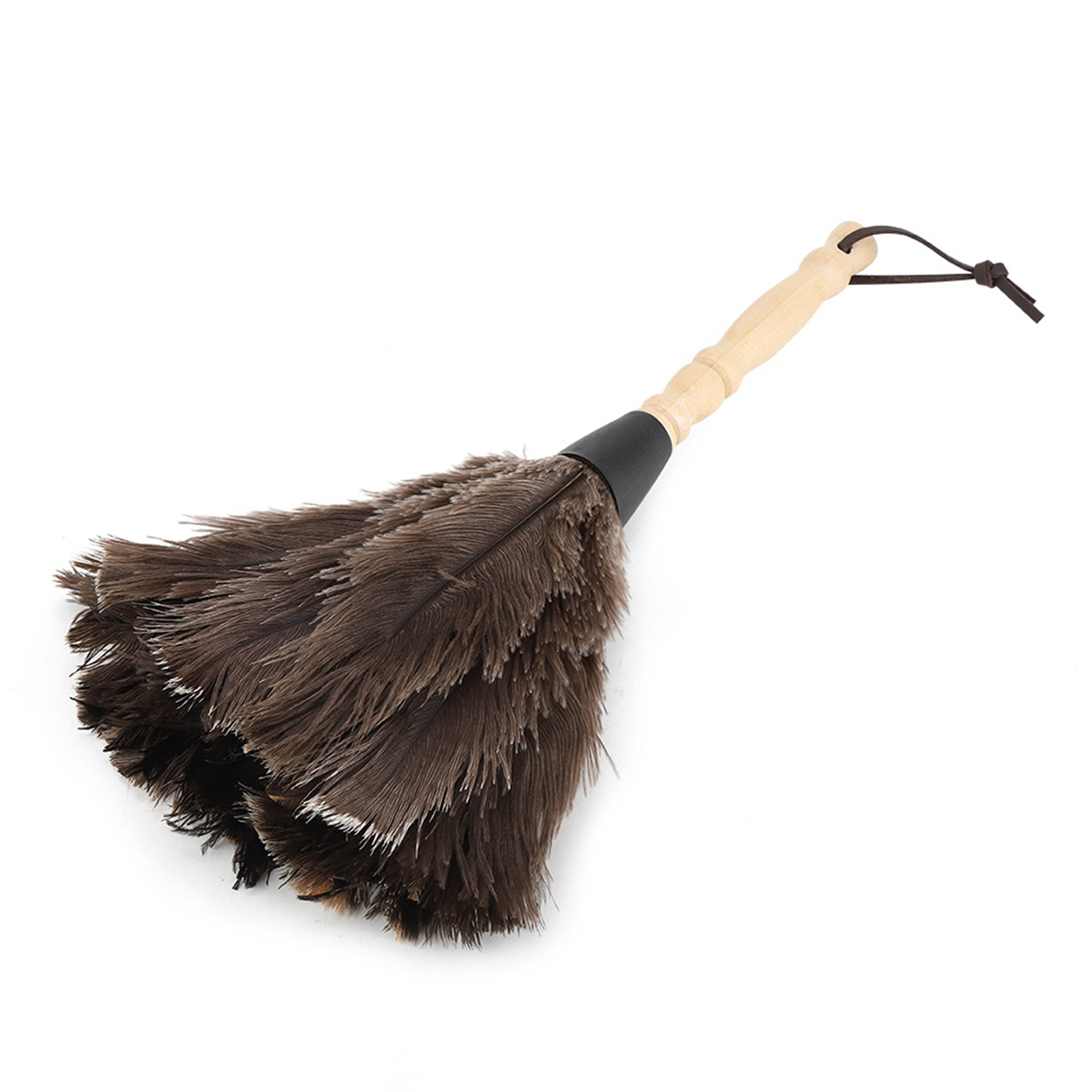 Anti-static-Wool-Ostrich-Feather-Fur-Brush-Duster-Dust-Cleaning-Tool-Wood-Handle thumbnail 21