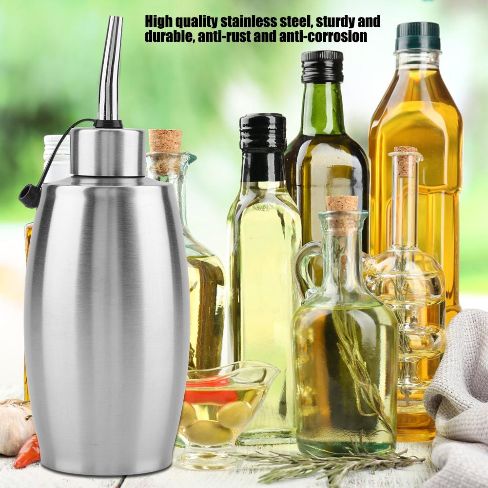 Stainless Steel Oil Pot Seasoning Soy Sauce Oil Small Vinegar Bottle Dispenser