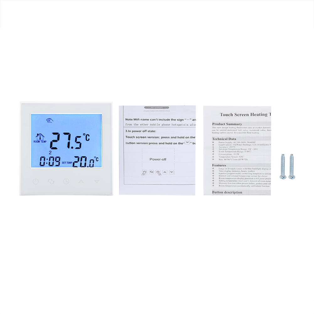 Programmable Smart Wifi Wireless Lcd Digital Thermostat Temperature On Off Control