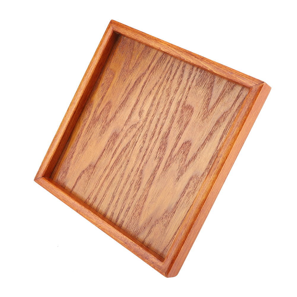 Large-Solid-Wood-Tray-Serving-Trays-Tea-Plate-Coffee-Plates-Bread-Wooden-Brunch thumbnail 45