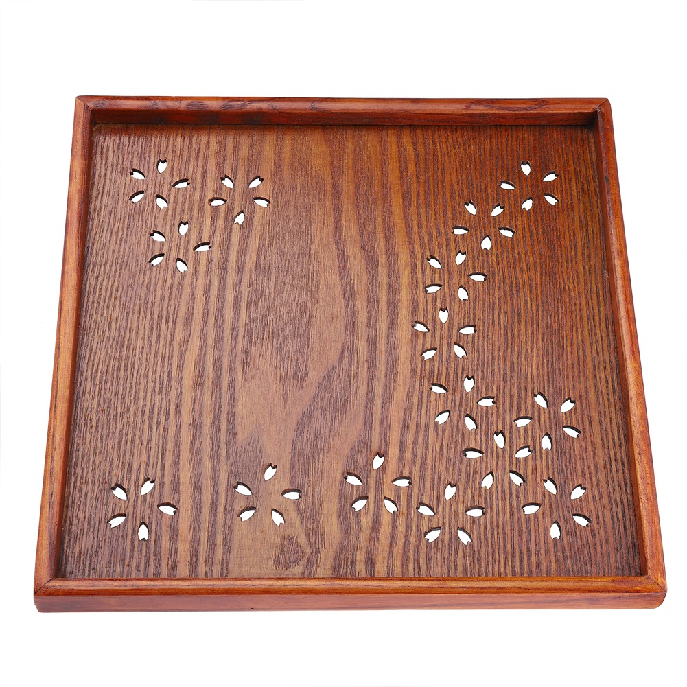 Large-Solid-Wood-Tray-Serving-Trays-Tea-Plate-Coffee-Plates-Bread-Wooden-Brunch thumbnail 33
