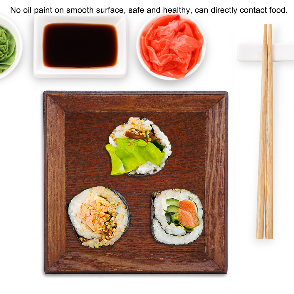 Wooden-Serving-Plate-Dumplings-Sushi-Dish-Plate-Wood-Square-Oblong-Serving-Tray thumbnail 17