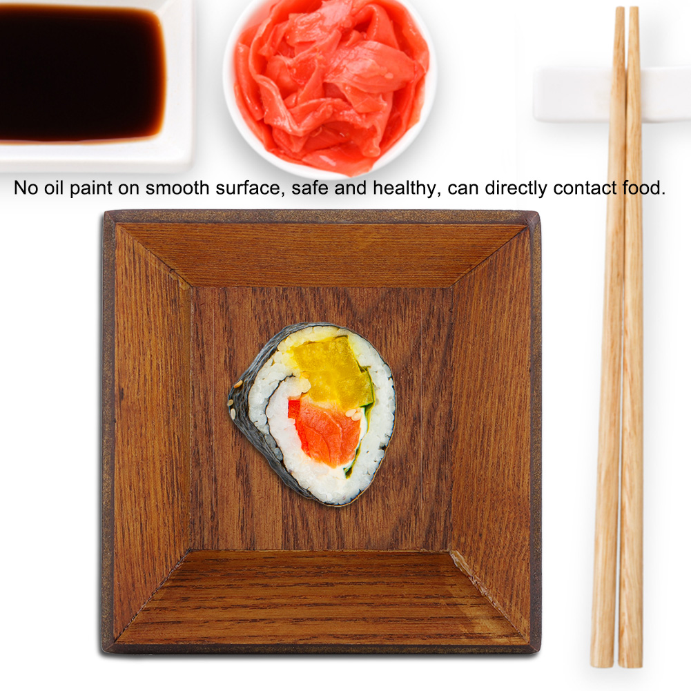 Wooden-Serving-Plate-Dumplings-Sushi-Dish-Plate-Wood-Square-Oblong-Serving-Tray thumbnail 21