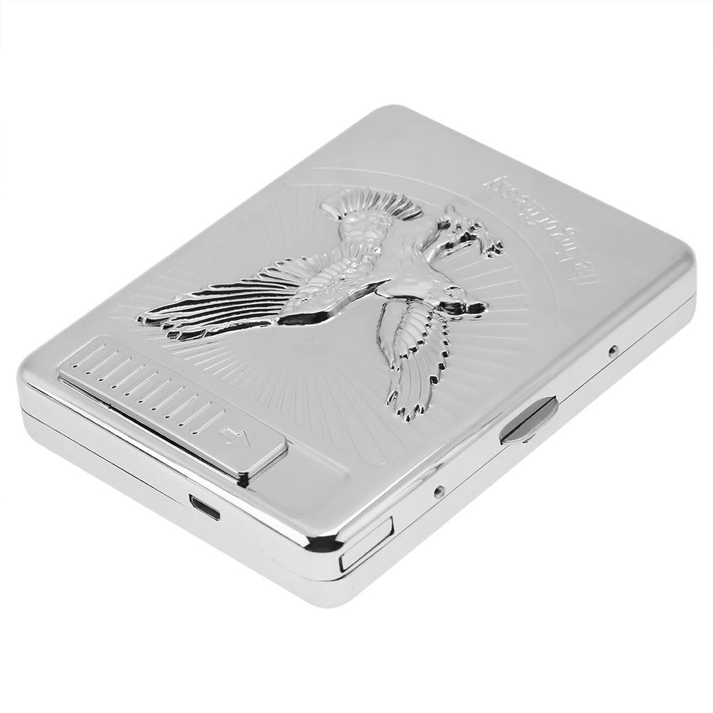 2-in-1-Windproof-Cigarette-Case-Holder-With-USB-Lighter-Electronic-Rechargeable thumbnail 17