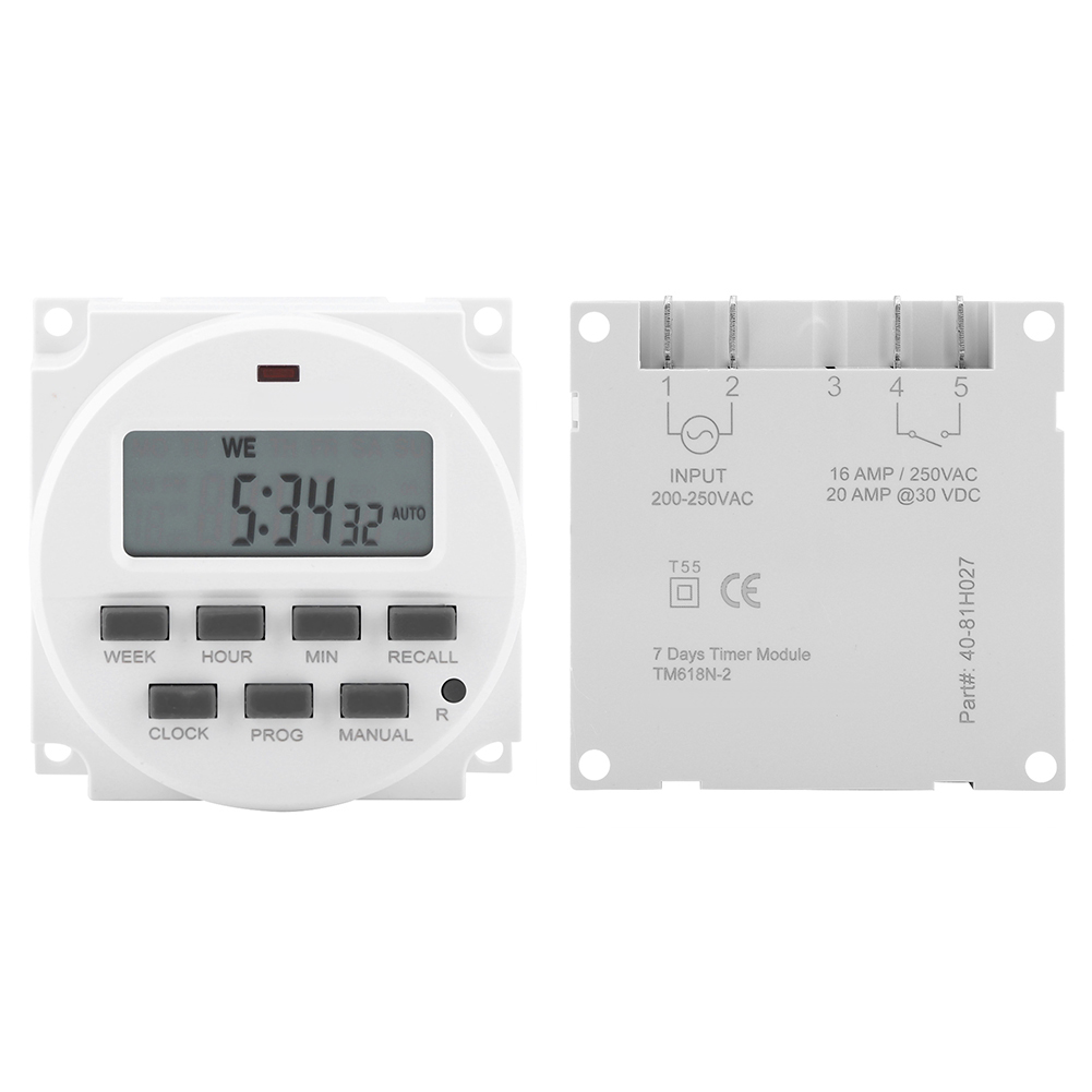 Programmable Control LCD Digital Programmable Control Power Timer Switch Relay