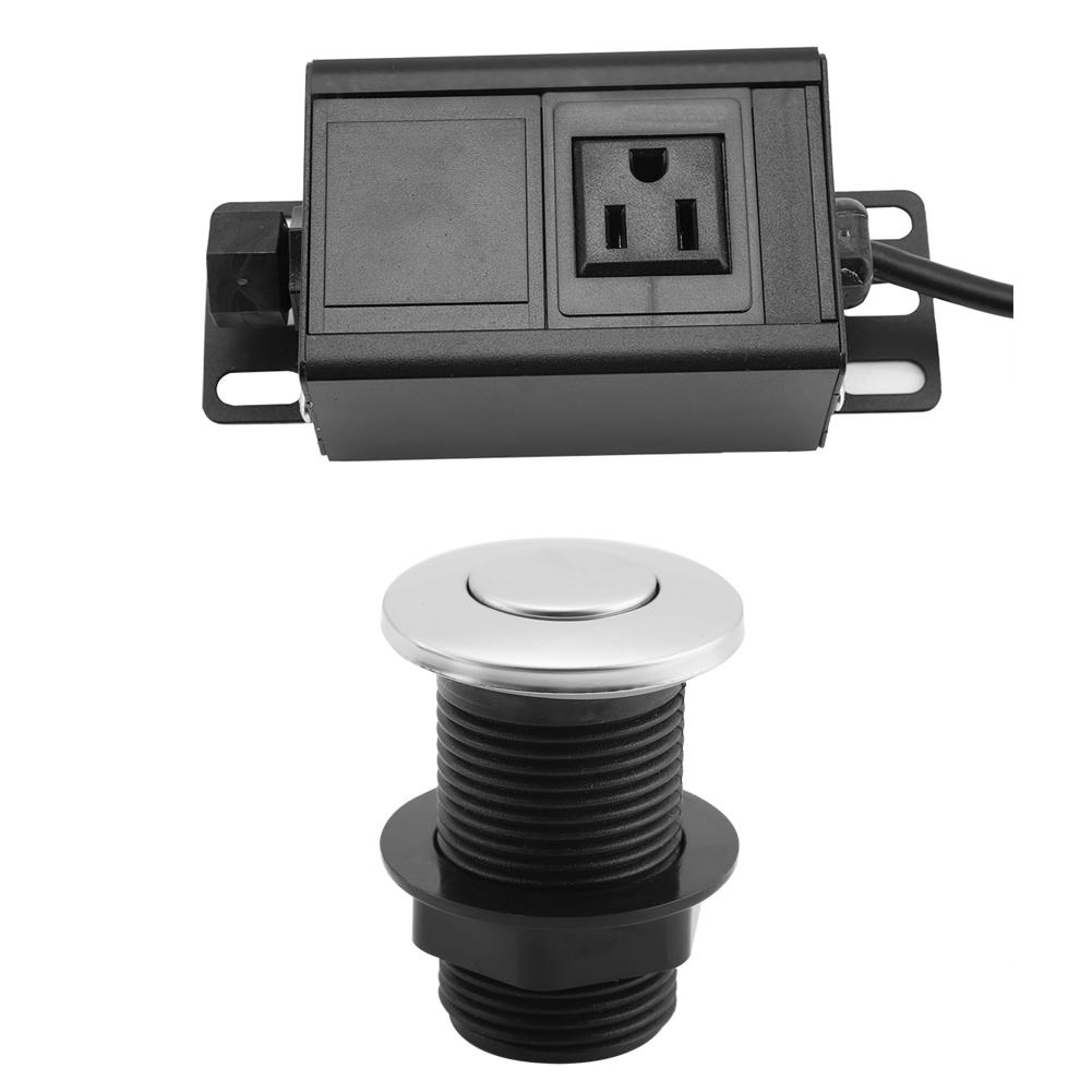 Kitchen Sink Outlet: Garbage Disposal Kitchen Sink Top Air Switch Control Kit