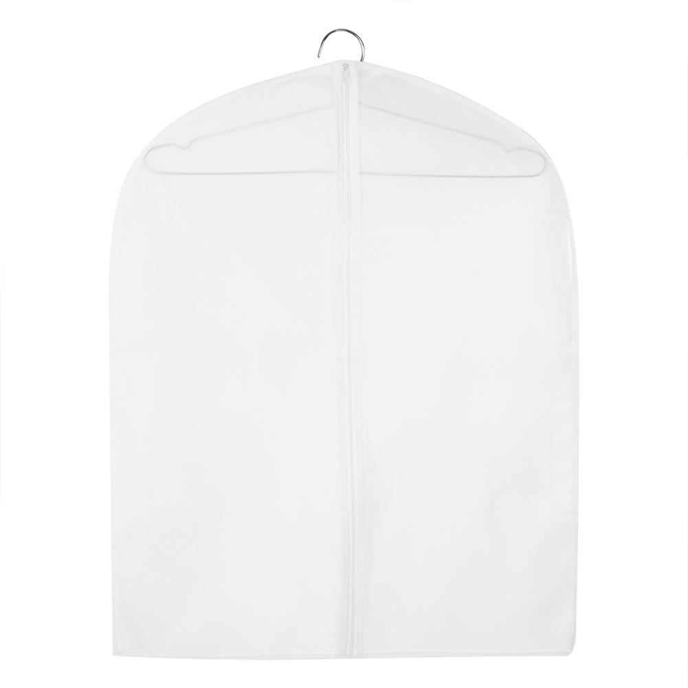 Zipped Coat Cover Clothes Storage Dust Protector Garment Hanger Coat Carrier