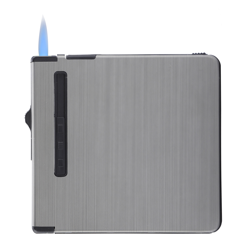 Inflatable-Automatic-Cigarette-Storage-Case-Portable-Windproof-Metal-Lighter thumbnail 14