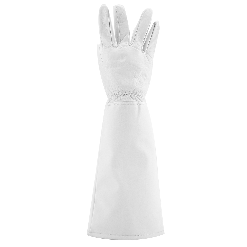 Fleur-Garniture-Gants-de-jardinage-Cuir-Resistant-a-Usure-Perforation-Prevention
