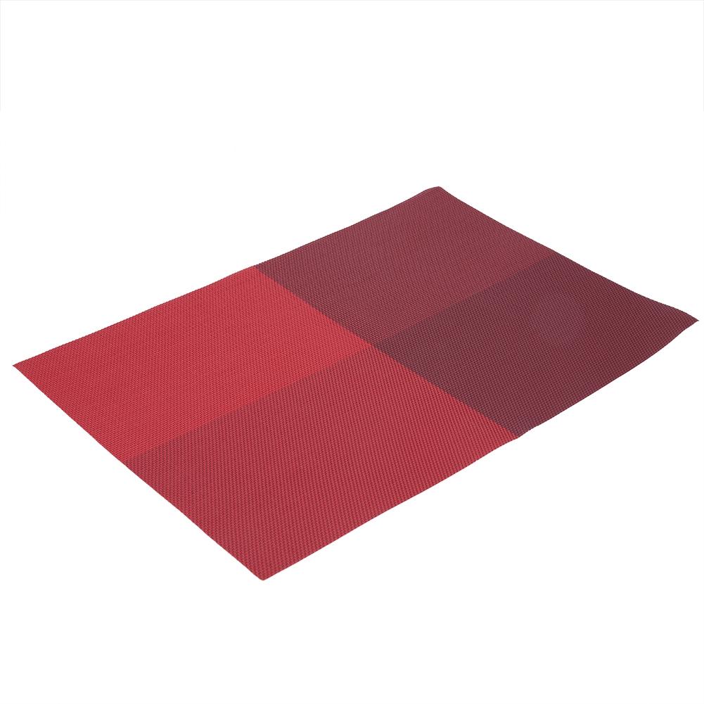 4pcs Rectangle Table Mats for Dining Table Plaid Pattern PVC