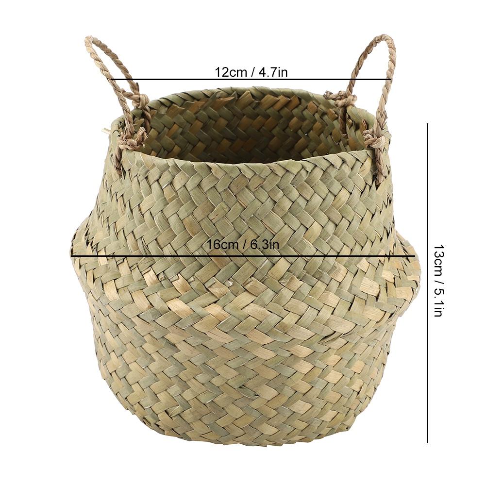 Panier de Rangement Osier Panier de Fleur Tress/é Pliable Corbeille /à Linge Sale Rond Osier Gris 22 * 20cm