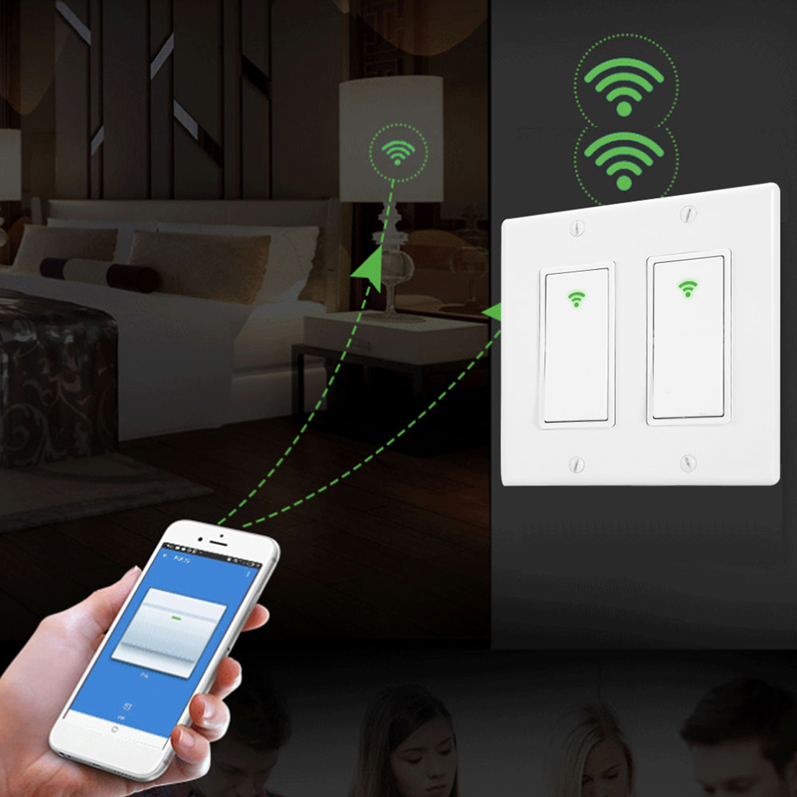 1-2-3-Gang-Smart-Light-Switch-Touch-WiFi-Light-Switch-for-Alexa-Google-Home thumbnail 9