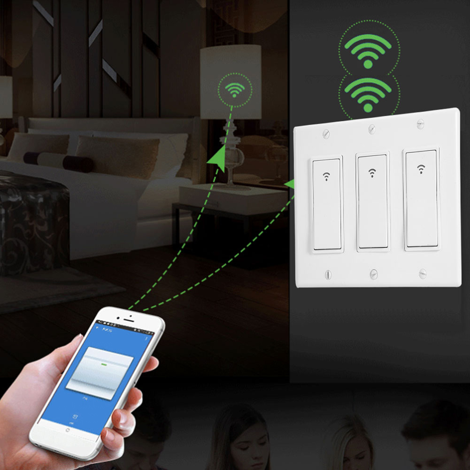 1-2-3-Gang-Smart-Light-Switch-Touch-WiFi-Light-Switch-for-Alexa-Google-Home thumbnail 12