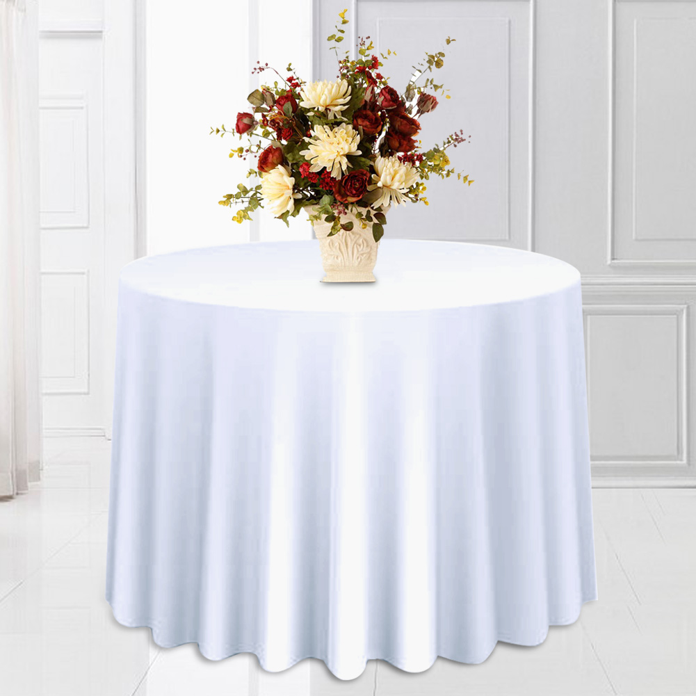 Round-Tablecloth-Polyester-Wedding-Banquet-Party-Table-Cover-Cloth-Decoration thumbnail 14