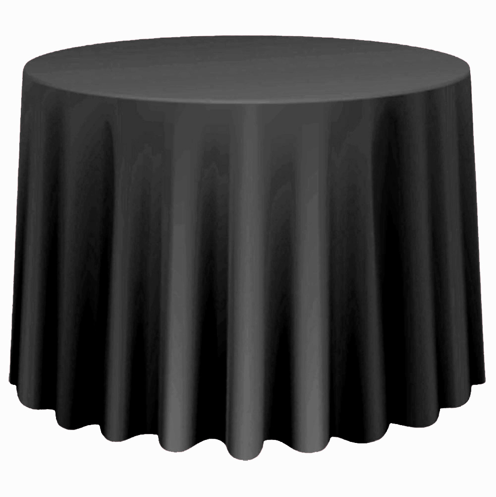 Round-Tablecloth-Polyester-Wedding-Banquet-Party-Table-Cover-Cloth-Decoration thumbnail 16
