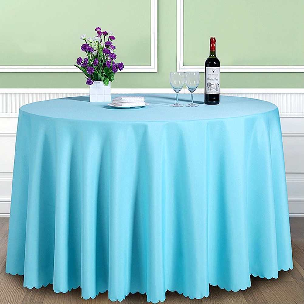 Round-Tablecloth-Polyester-Wedding-Banquet-Party-Table-Cover-Cloth-Decoration thumbnail 24
