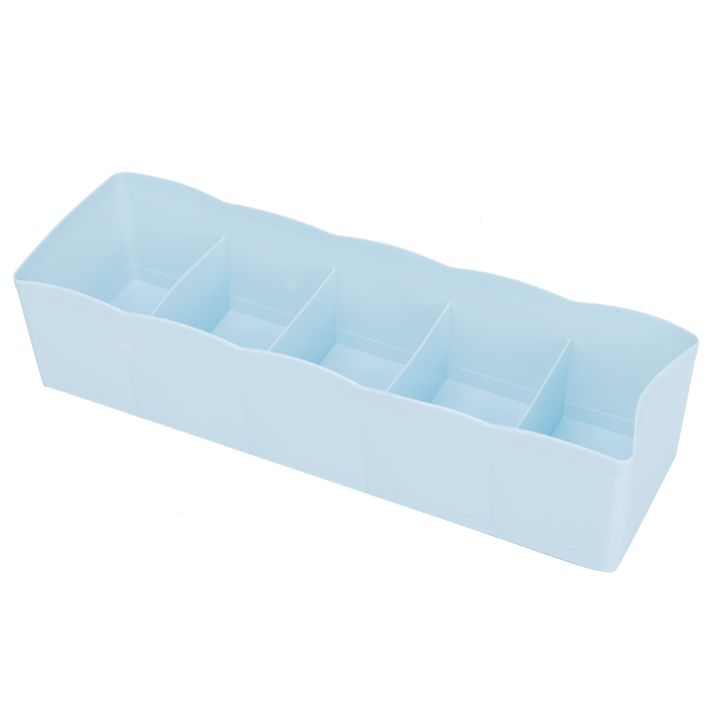 Plastic-Drawer-Organizer-Bra-Underwear-Socks-Storage-Basket-With-5-Grids thumbnail 14