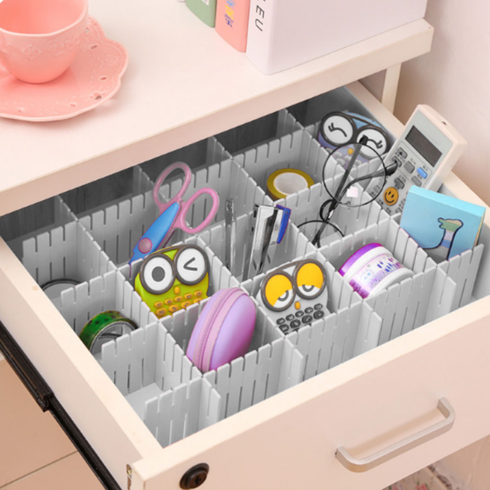 4Pcs-DIY-Plastic-Drawer-Household-Storage-Organizer-Adjustable-Drawer-Dividers thumbnail 11