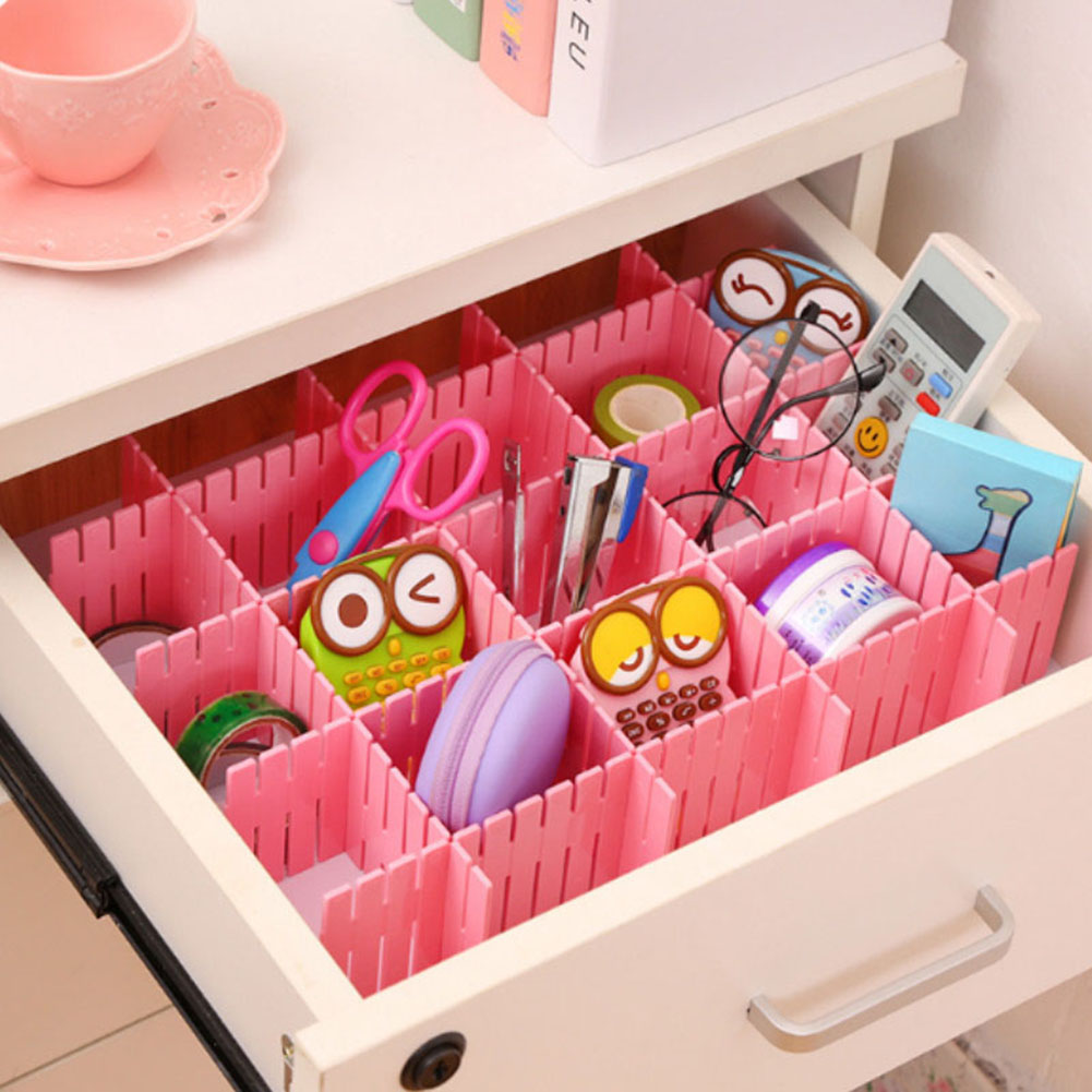 4Pcs-DIY-Plastic-Drawer-Household-Storage-Organizer-Adjustable-Drawer-Dividers thumbnail 16
