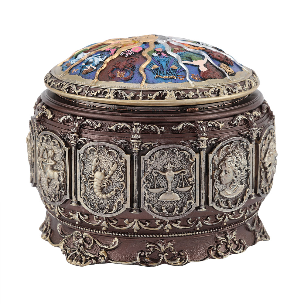 Vintage-Music-Box-with-12-Constellations-Rotating-Goddess-Twinkling-LED-Light thumbnail 14