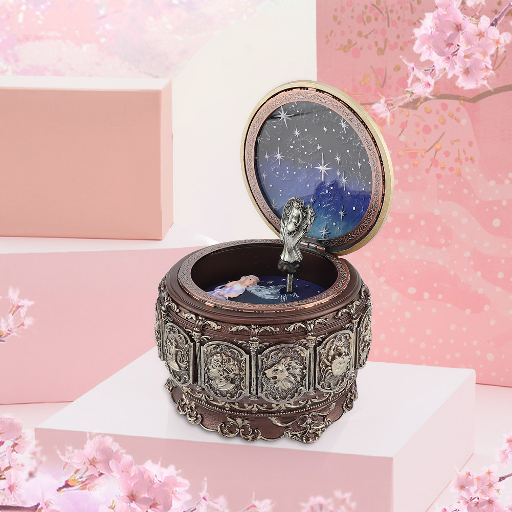 Vintage-Music-Box-with-12-Constellations-Rotating-Goddess-Twinkling-LED-Light thumbnail 24