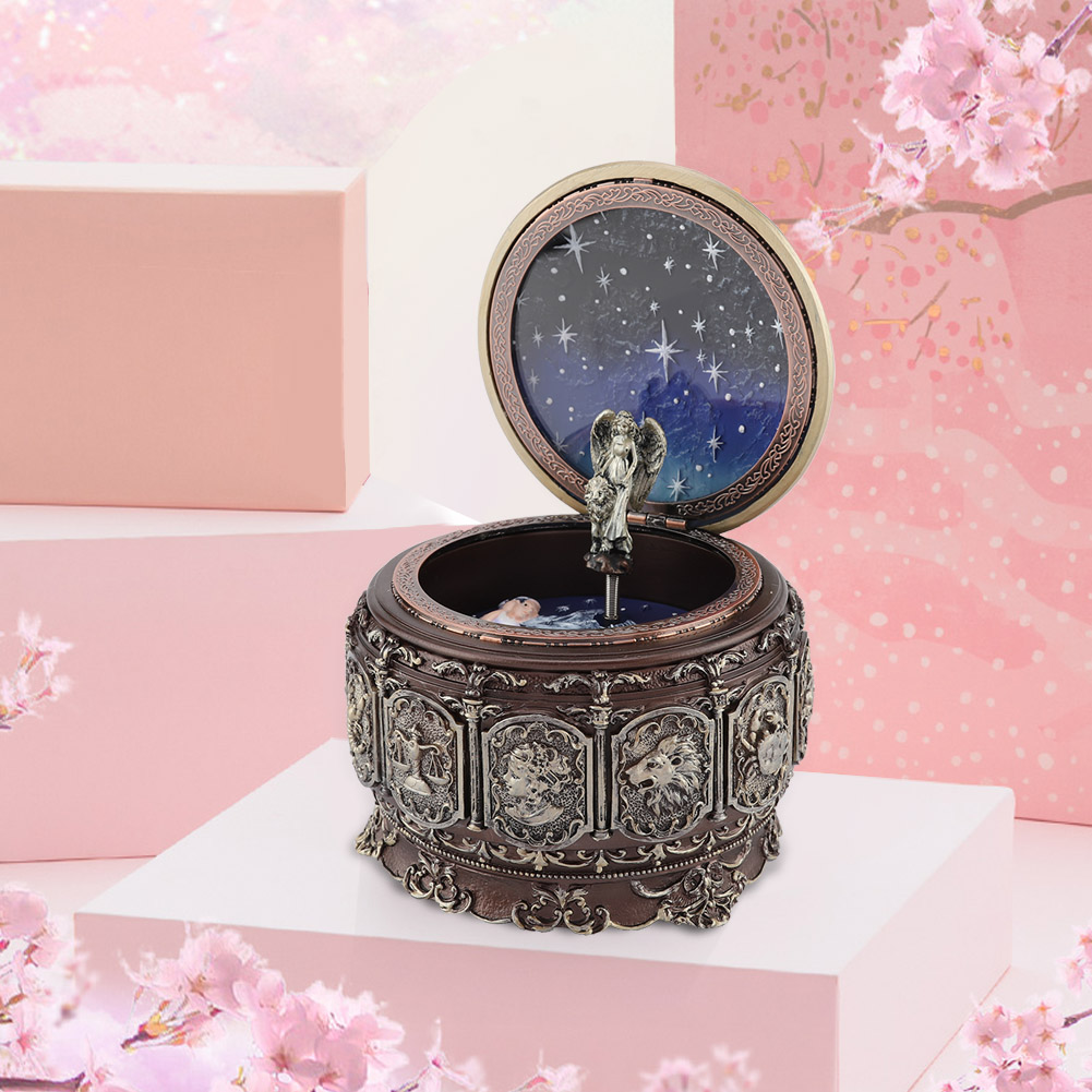 Vintage-Music-Box-with-12-Constellations-Rotating-Goddess-Twinkling-LED-Light thumbnail 27