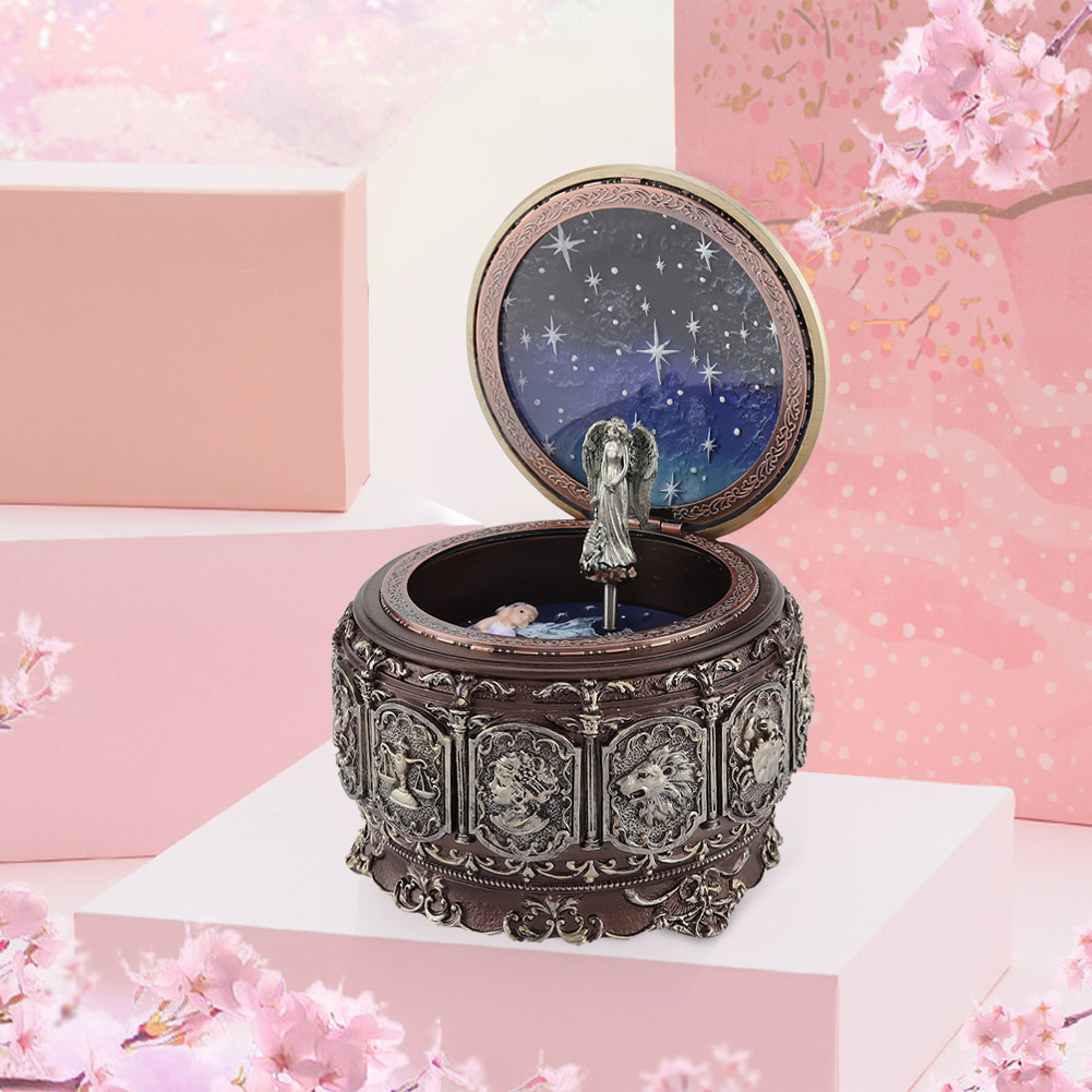 Vintage-Music-Box-with-12-Constellations-Rotating-Goddess-Twinkling-LED-Light thumbnail 36