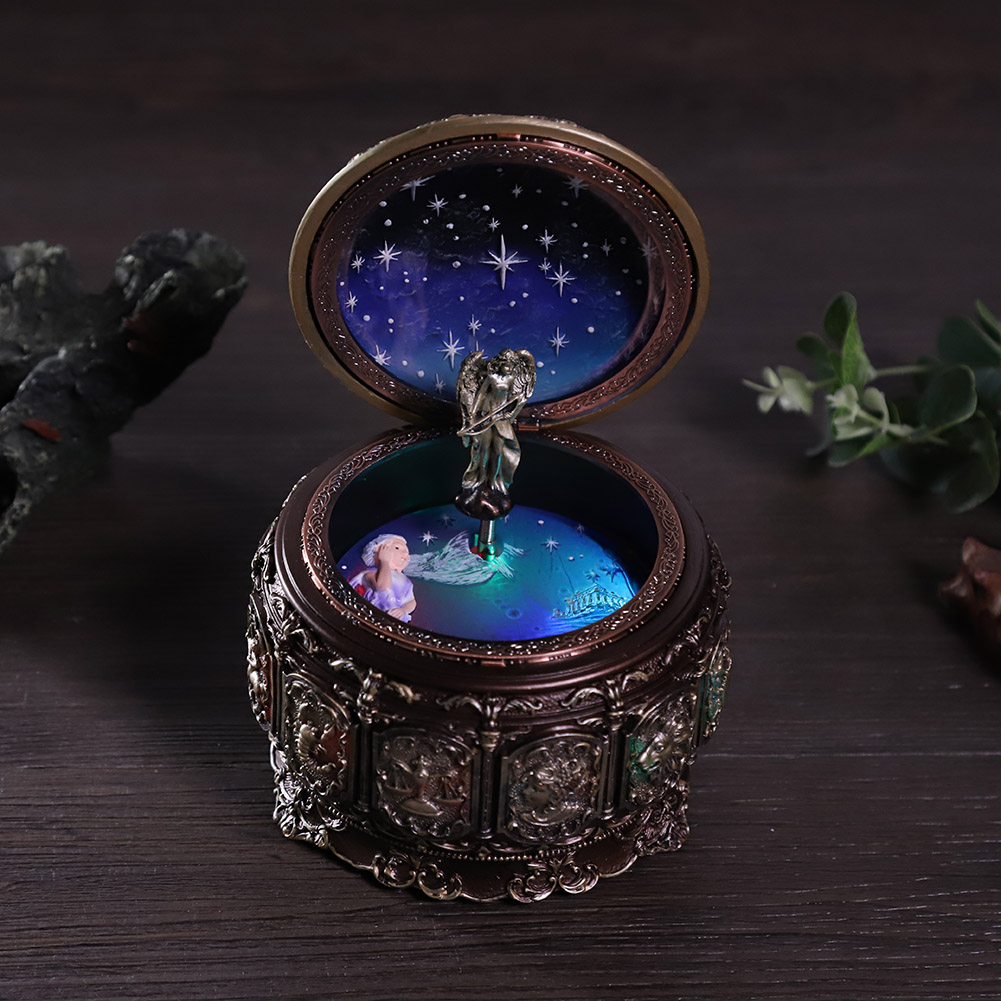 Vintage-Music-Box-with-12-Constellations-Rotating-Goddess-Twinkling-LED-Light thumbnail 37