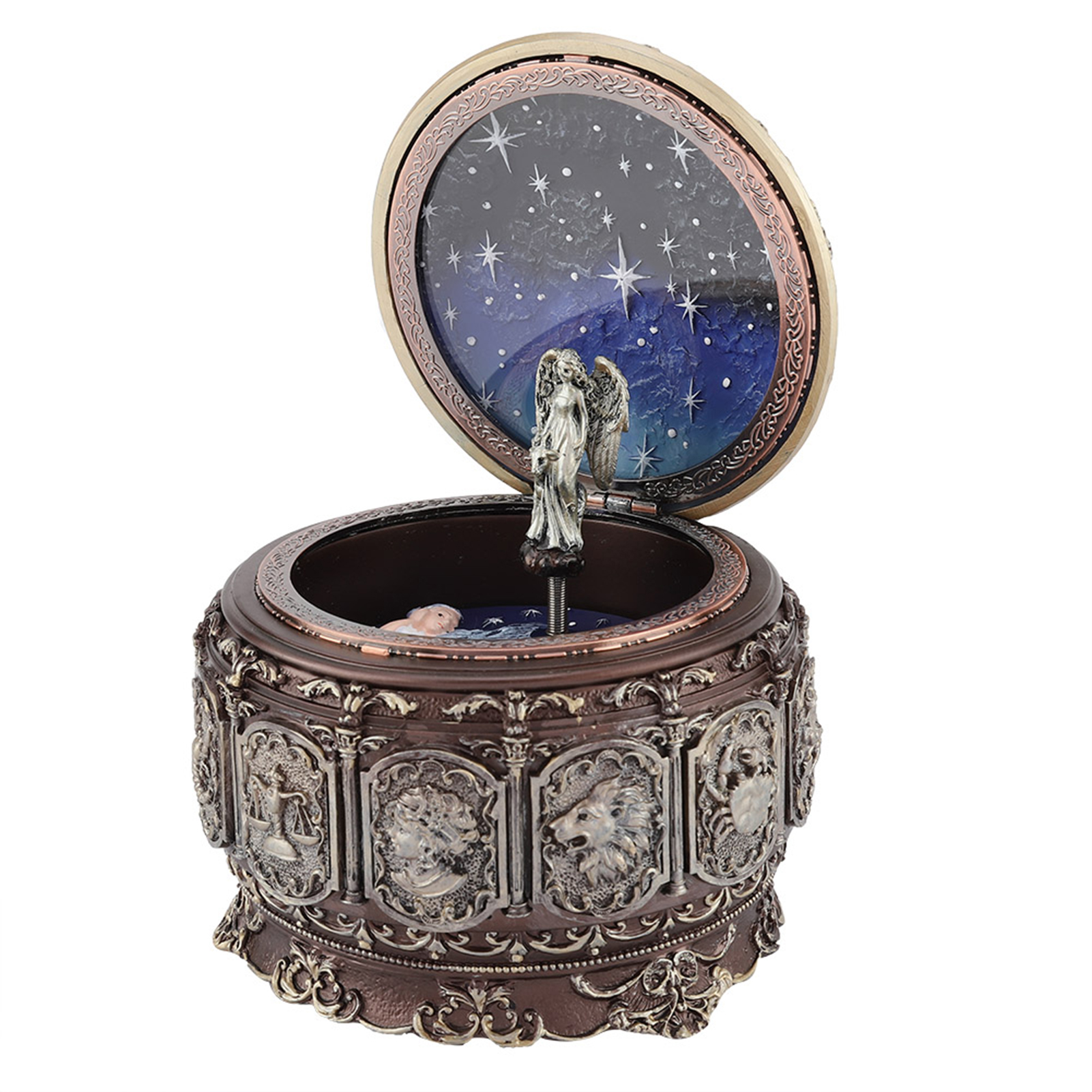 Vintage-Music-Box-with-12-Constellations-Rotating-Goddess-Twinkling-LED-Light thumbnail 42
