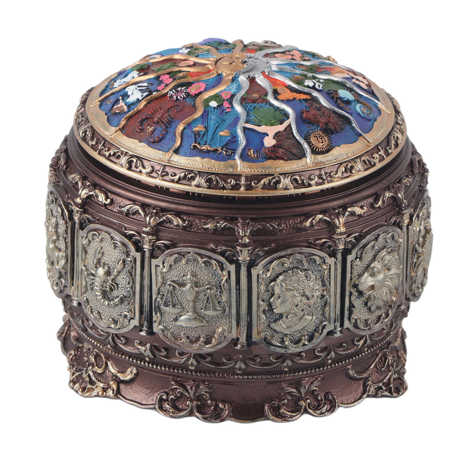 Vintage-Music-Box-with-12-Constellations-Rotating-Goddess-Twinkling-LED-Light thumbnail 48