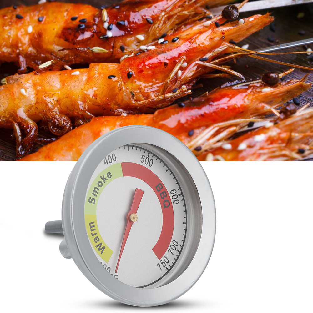 Stainless-Steel-BBQ-Smoker-Grill-Thermometer-Outdoor-Cooking-Temperature-Gauge thumbnail 14