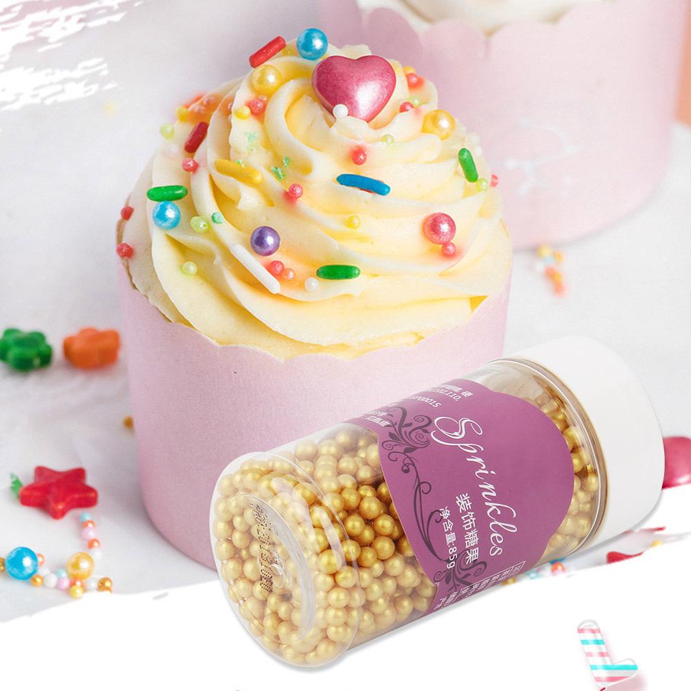 Cake Decorating Tools Small Gold Beads Pearl Edible Sugar Ball Fondant DIY Cake