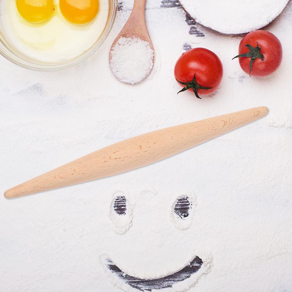 Household-Non-Stick-Long-Wooden-Noodles-Rolling-Pin-Fondant-Cake-Baking-Tools thumbnail 12
