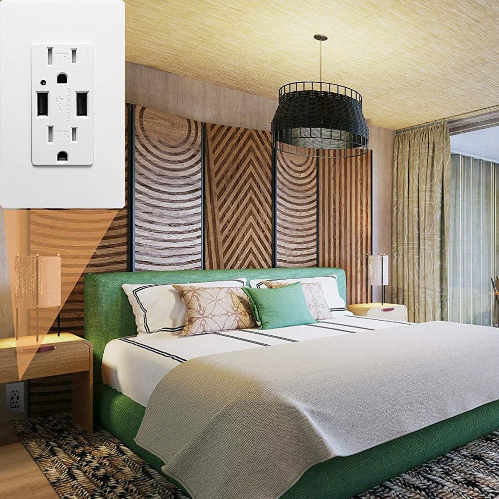 125V-15A-Electrical-Outlet-Panel-Dual-USB-wall-charger-port-Socket-Power-Adapter thumbnail 15