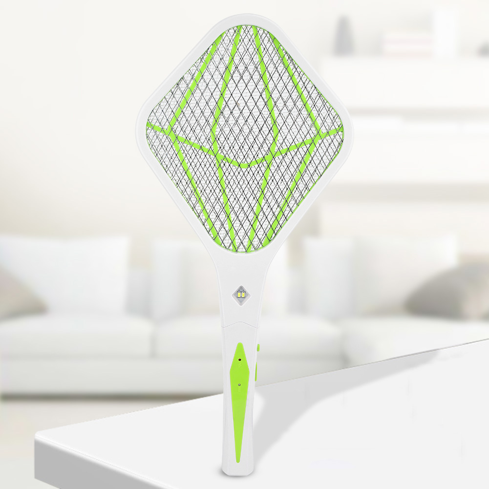 Electric-Mosquito-Fly-Bug-Insect-Trap-Racket-Zapper-Killer-USB-Charging-Swatter miniature 15