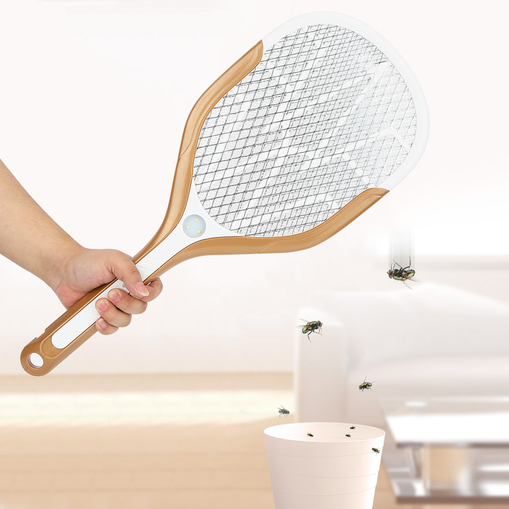 Electric-Mosquito-Fly-Bug-Insect-Trap-Racket-Zapper-Killer-USB-Charging-Swatter miniature 17