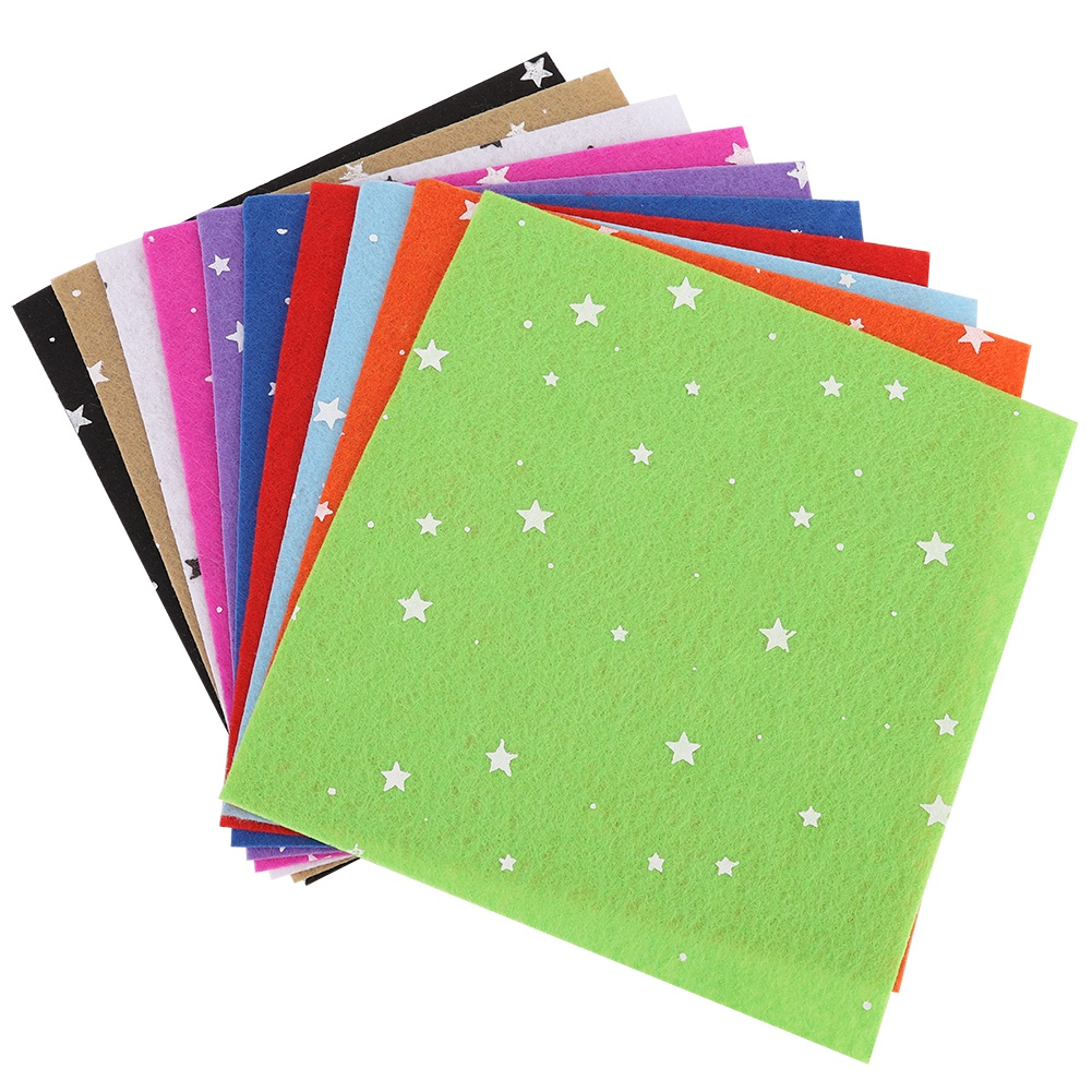 10Pc-Handcraft-Non-woven-Fabric-Craft-Square-Sheet-DIY-Quilting-amp-Sewing-Material thumbnail 20