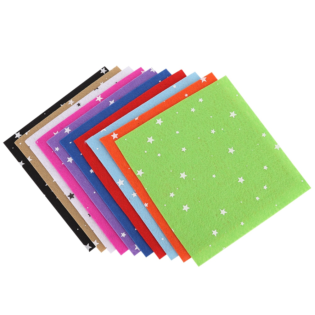 10Pc-Handcraft-Non-woven-Fabric-Craft-Square-Sheet-DIY-Quilting-amp-Sewing-Material thumbnail 21