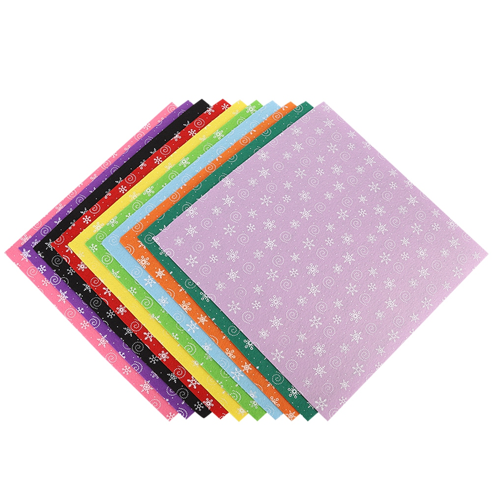 10Pc-Handcraft-Non-woven-Fabric-Craft-Square-Sheet-DIY-Quilting-amp-Sewing-Material thumbnail 14
