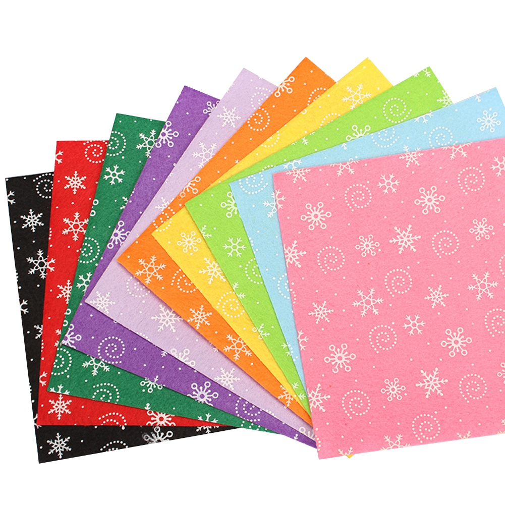 10Pc-Handcraft-Non-woven-Fabric-Craft-Square-Sheet-DIY-Quilting-amp-Sewing-Material thumbnail 15