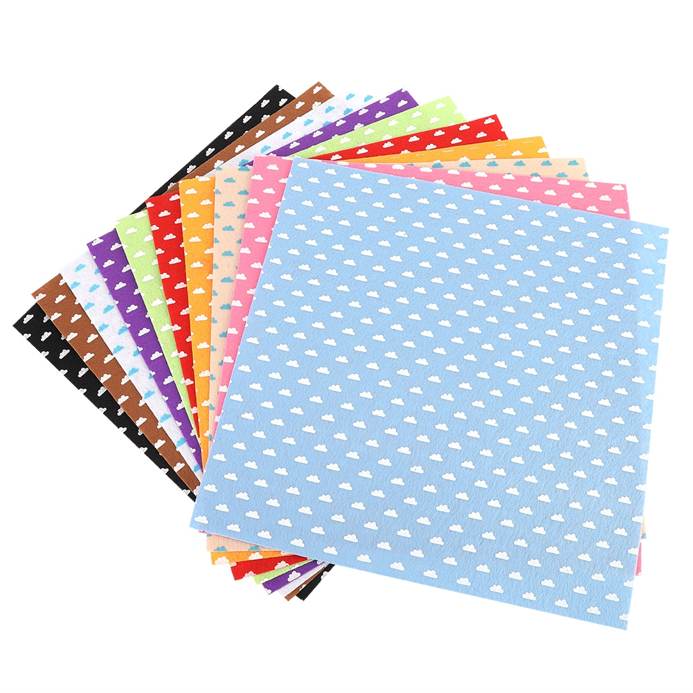 10Pc-Handcraft-Non-woven-Fabric-Craft-Square-Sheet-DIY-Quilting-amp-Sewing-Material thumbnail 18