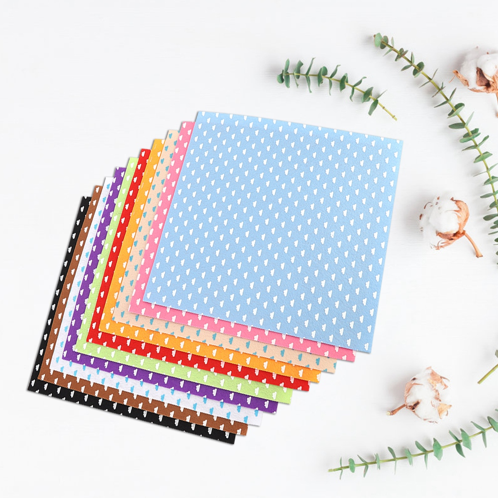 10Pc-Handcraft-Non-woven-Fabric-Craft-Square-Sheet-DIY-Quilting-amp-Sewing-Material thumbnail 17