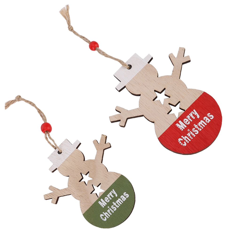 Christmas-Ornaments-Wooden-Star-Elk-Snowflakes-Pendants-For-Xmas-Tree-Home-Decor miniatura 47