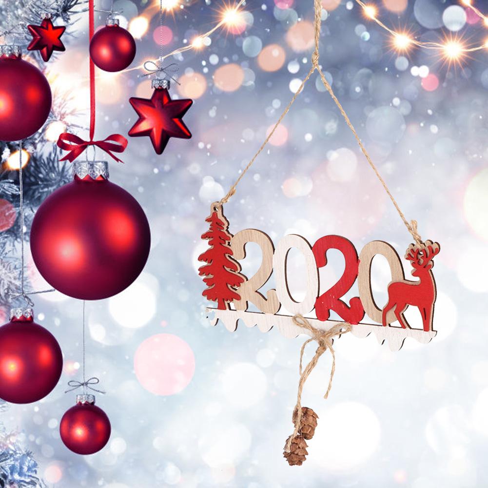 Christmas-Ornaments-Wooden-Star-Elk-Snowflakes-Pendants-For-Xmas-Tree-Home-Decor miniatura 38